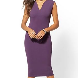 NWT V-Neck Sheath Dress Purple Size Small